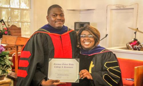 Smiling Doctorate Degree Recipient